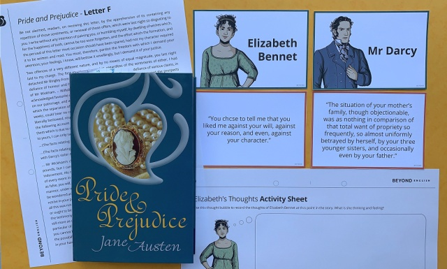 Pride and Prejudice pages from Twinkl Beyond