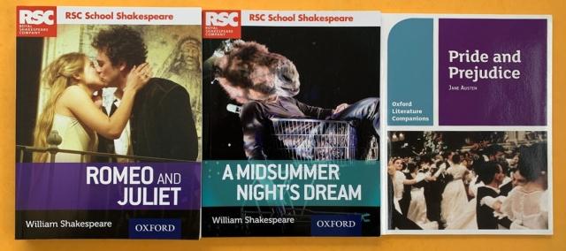 RSC School Shakespeare Books and Pride and Prejudice Companion