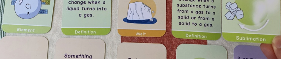 Oaka Books Chemistry Pairs Fame. Matching cards for KS3 Science