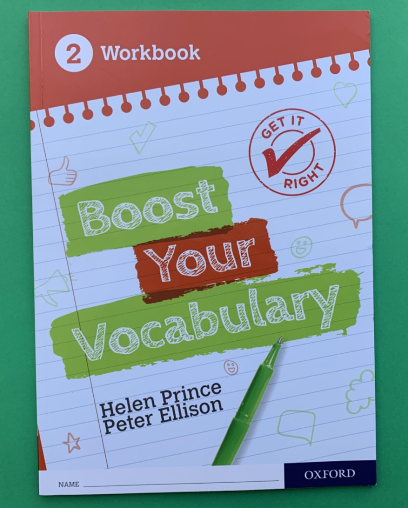 Boost Your Vocabulary workbook 2. KS3 English resource great for Year 8 students